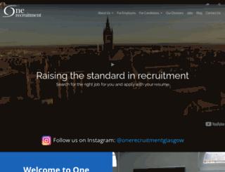 onerecruitmentassociates.com screenshot