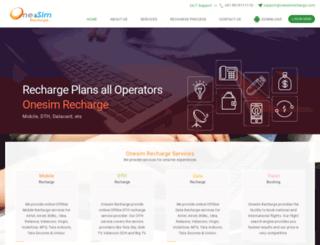onesimrecharge.com screenshot