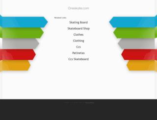oneskate.com screenshot