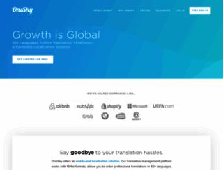 oneskyapp.com screenshot