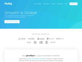 oneskyapp.net screenshot