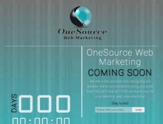 onesourcewebmarketing.com screenshot
