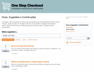 onestepcheckoutbrasil.uservoice.com screenshot