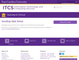 onestop.ecu.edu screenshot