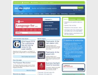 onestopenglish.co.uk screenshot