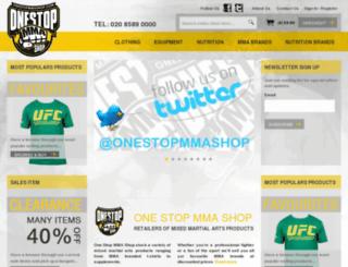 onestopmmashop.com screenshot