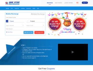 onestoprecharge.com screenshot