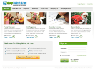 onestopwishlist.com screenshot