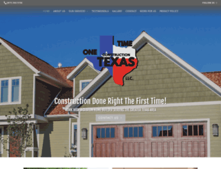onetimeconstruction.com screenshot
