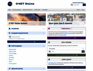 onetonline.org screenshot