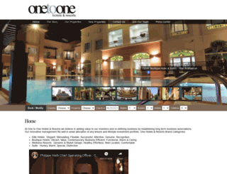 onetoonehotels.com screenshot