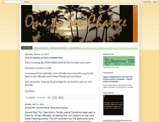 onetoseechange.blogspot.com screenshot