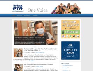 onevoice.pta.org screenshot