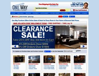 onewayfurniture.com screenshot