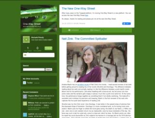onewaystreet.typepad.com screenshot