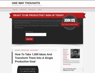 onewaythoughts.com screenshot