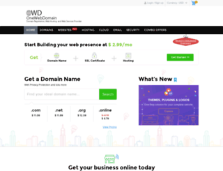 onewebdomain.com screenshot