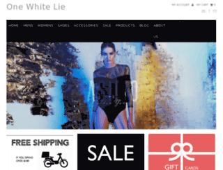 onewhitelie.com.au screenshot