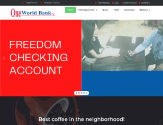 oneworldbank.com screenshot