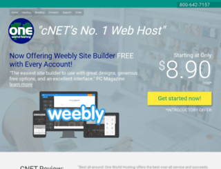 oneworldhosting.com screenshot