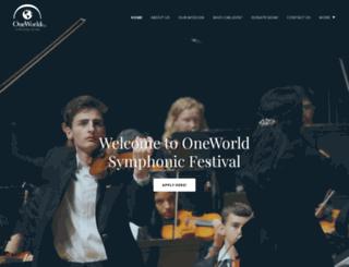 oneworldsymphonicfestival.com screenshot
