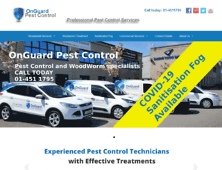 onguardpestcontrol.ie screenshot