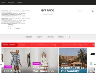 oniipaigemagazine.com screenshot