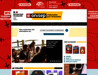 onisep.fr screenshot