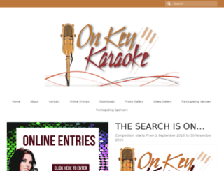 onkeykaraoke.co.za screenshot