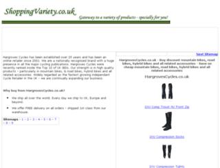 online-bike-shop.shoppingvariety.co.uk screenshot