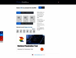 online-clockalarm.com screenshot