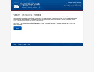 online-concussion.pwcs.edu screenshot
