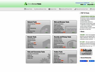 online-domain-tools.com screenshot
