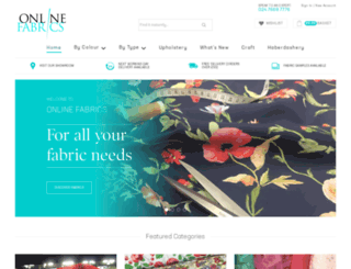 online-fabrics.co.uk screenshot