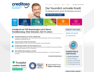 online-kredite.creditolo.de screenshot
