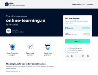online-learning.in screenshot