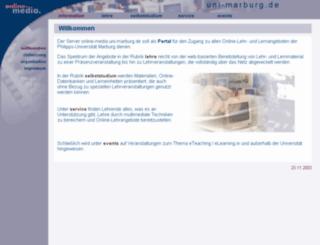 online-media.uni-marburg.de screenshot