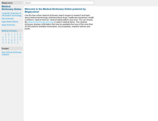 online-medical-dictionary.org screenshot
