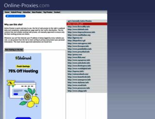 online-proxies.com screenshot