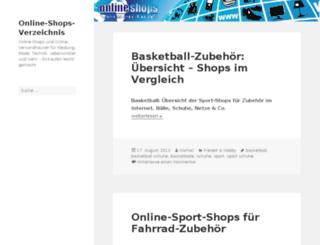 online-shops-verzeichnis.de screenshot