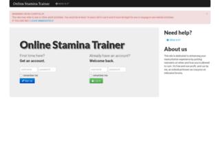 online-stamina-trainer.herokuapp.com screenshot