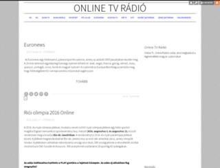 online-tv-radio.blog.hu screenshot