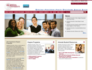 online.almedauniversity.org screenshot