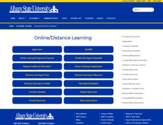 online.asurams.edu screenshot