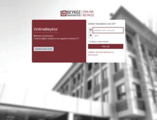 online.beykoz.edu.tr screenshot