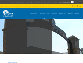 online.brescia.edu screenshot