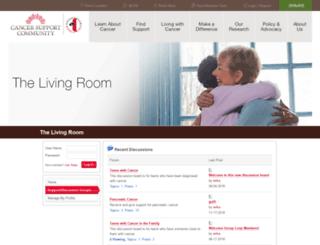 online.cancersupportcommunity.org screenshot