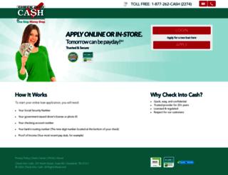 online.checkintocash.com screenshot