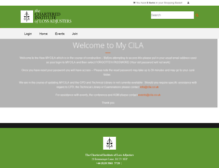 online.cila.co.uk screenshot