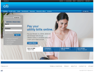 online.citibank.ae screenshot